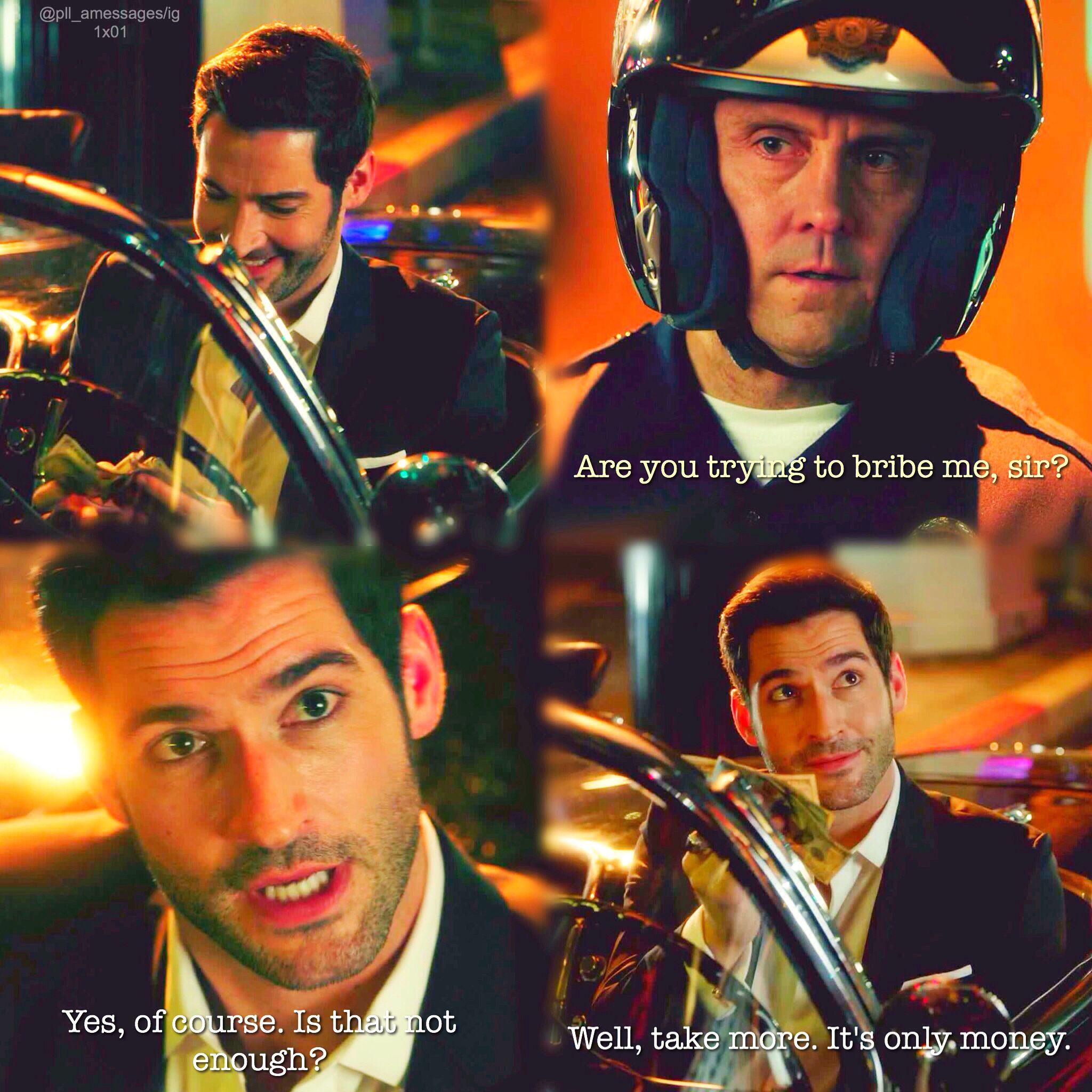 Lol. Lucifer Getting Pulled Over XD