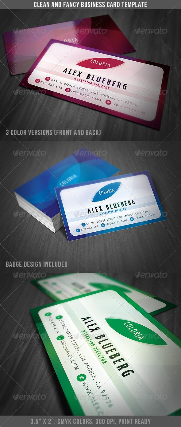 Clean And Fancy Business Card Business Cards Card Templates And