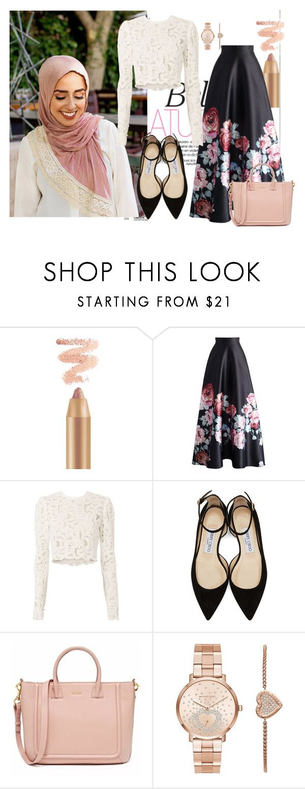 """floral"" by nawal ❤ liked on Polyvore featuring Chicwish, A.L.C., Jimmy Choo and Michael Kors"