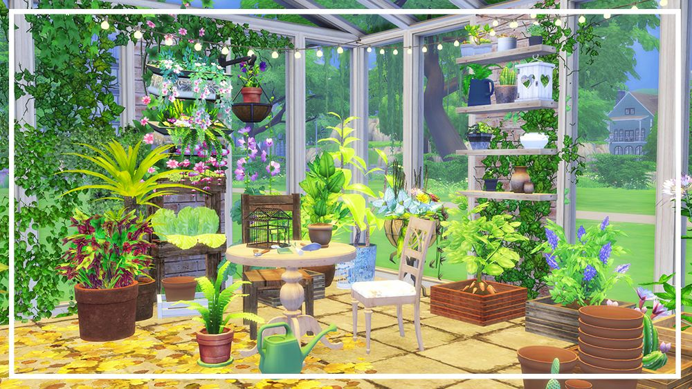 The Sims 4 Greenhouse Room Build Sims Sims 4 Sims 4 Build