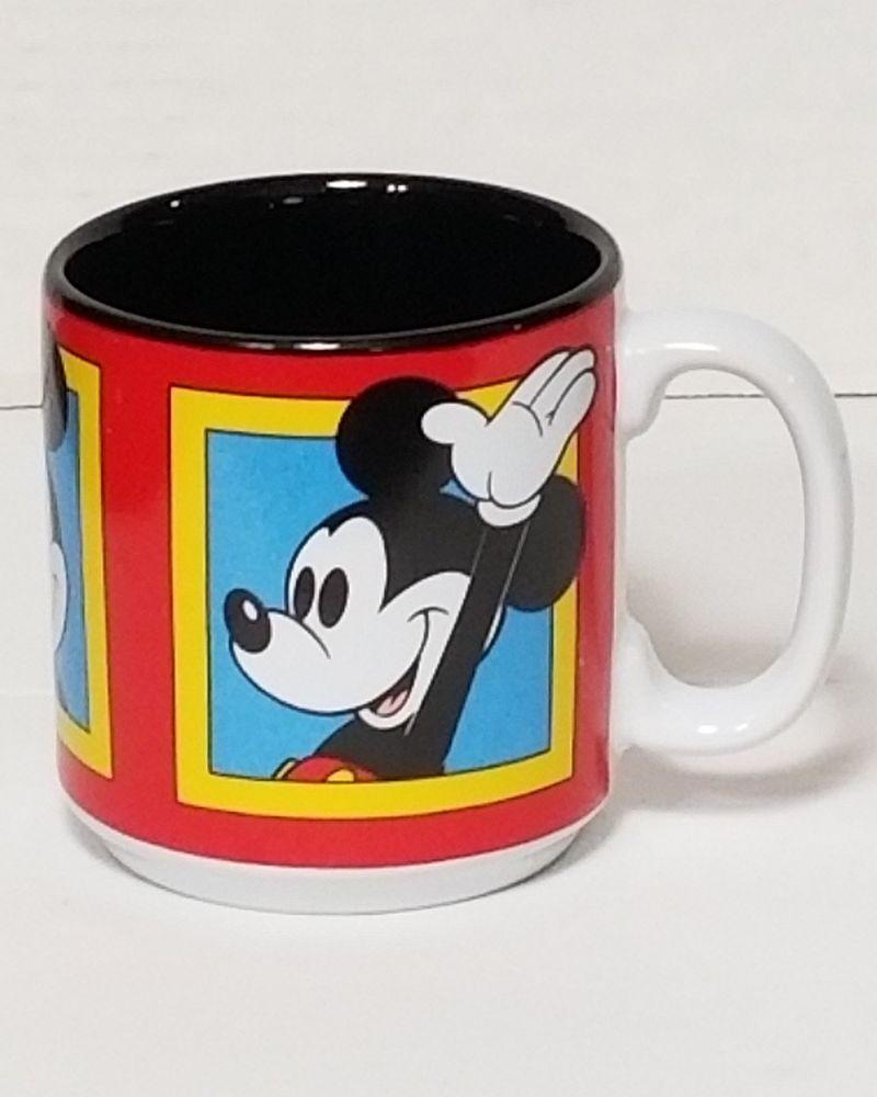 Disney Yellow Mickey Design Coffee Juice Milk Mug Microwave Dishwasher Safe
