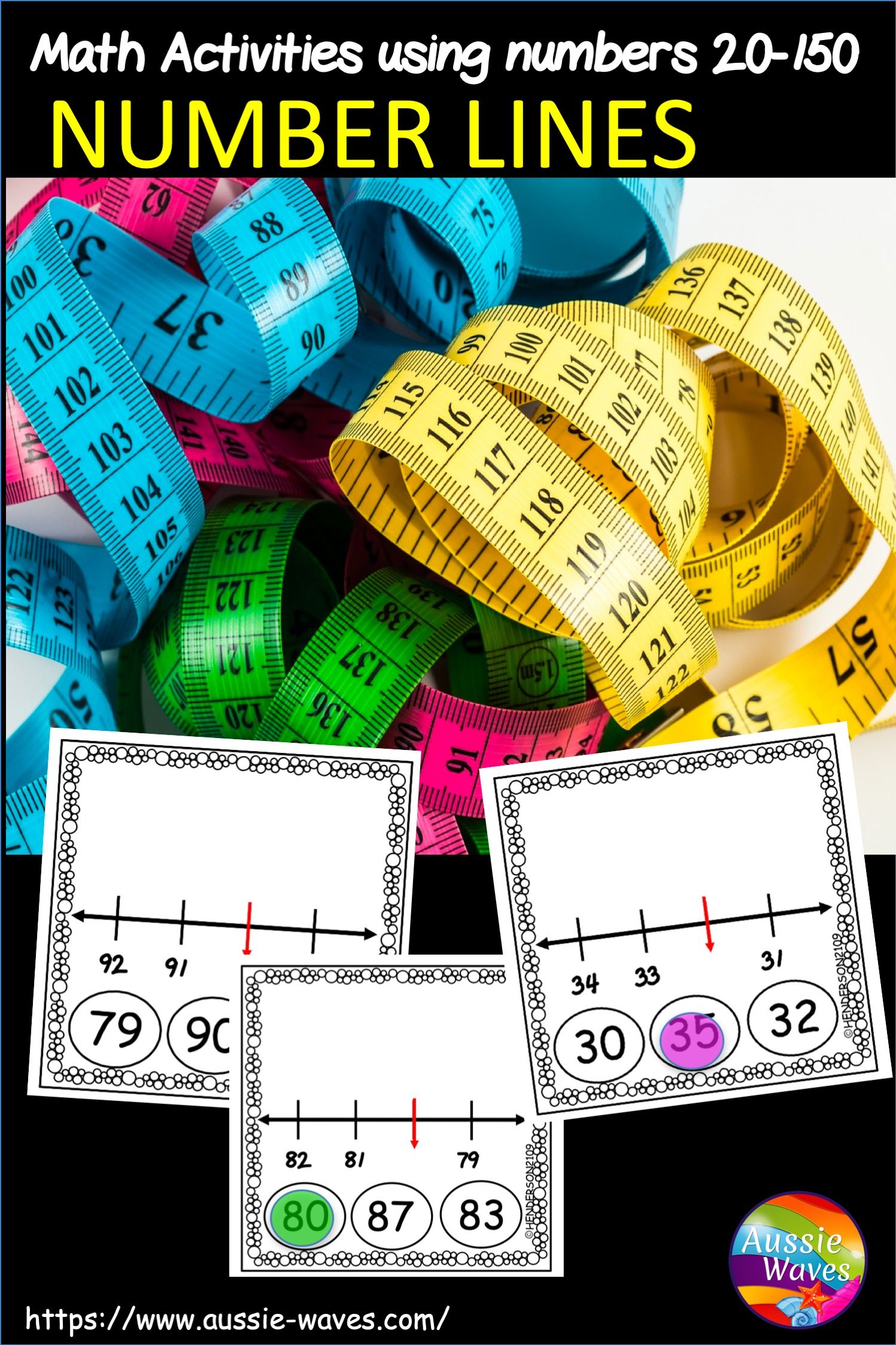 Math Centre Activity Using Number Lines For Numbers 20 150