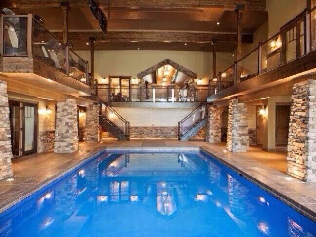 Indoor Pool I Think Yes Swimming Pool House Pool House Designs Indoor Pool Design