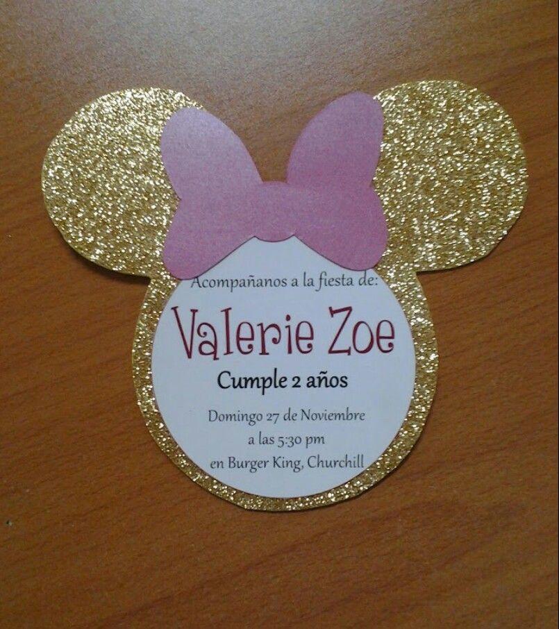 Invitación Minnie Invitaciones Minnie Decoracion Fiesta