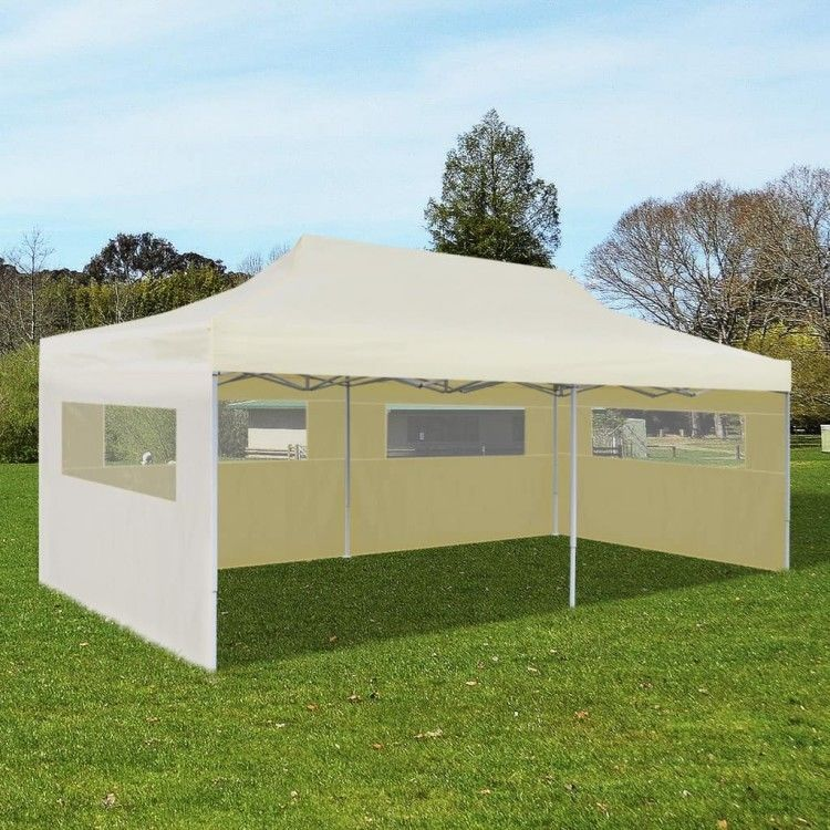 Details About Foldable Pop Up Party Tent Cream Garden Marquee Outdoor Canopy Camping Sunshade Outdoor Canopy Gazebo Party Tent Canopy Outdoor