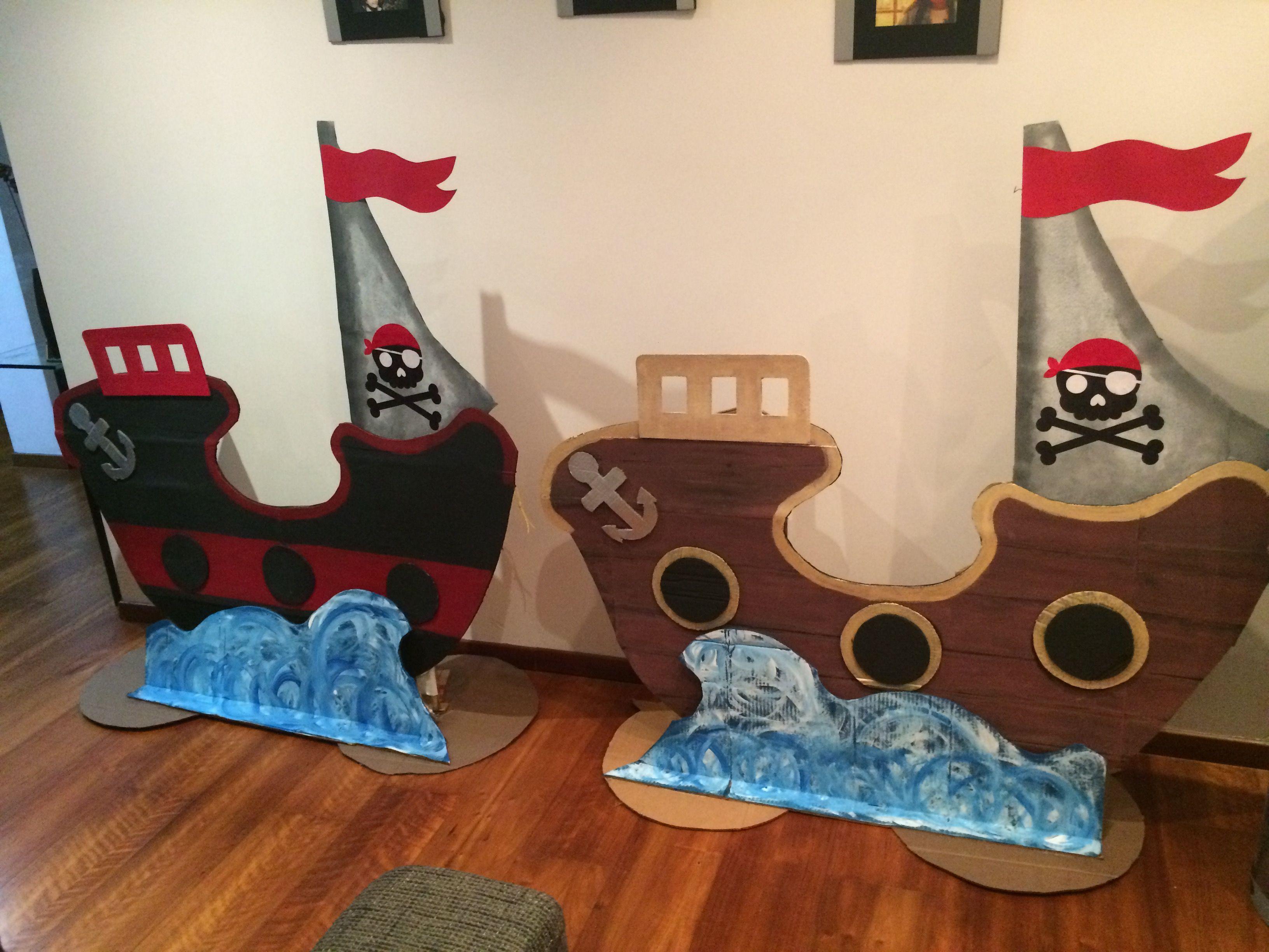 Barcos en cartón para Acto Piratas Fin de Año Escolar   fiestas ...