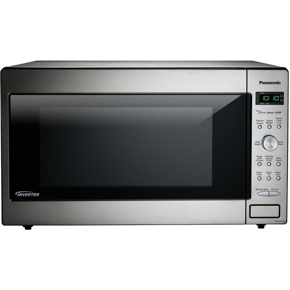 Panasonic 2 2 Cu Ft Countertop Microwave In Stainless Steel Silver Built In Capable With Countertop Microwave Built In Microwave Stainless Steel Microwave