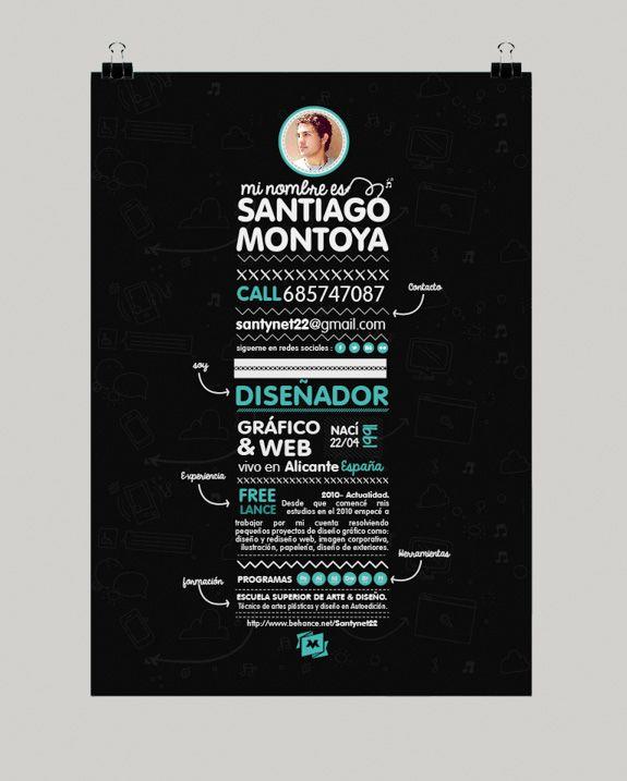 modele cv chic webdesigner