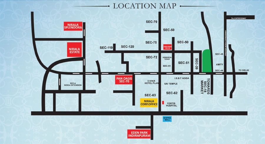 Location Map For Nirala Estate Http Niralaestate Org Estates Affordable Apartments Location Map