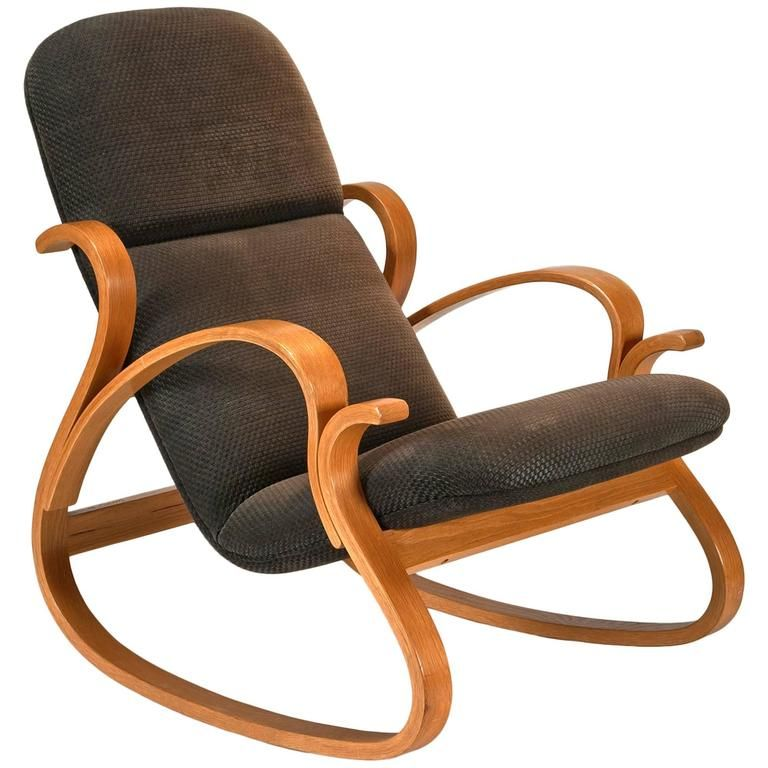 Early Bentwood Rocking Chair by Peter Danko
