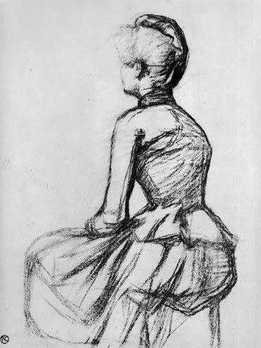Sitting Woman-Sun - Henri de Toulouse-Lautrec  French 1864-1901