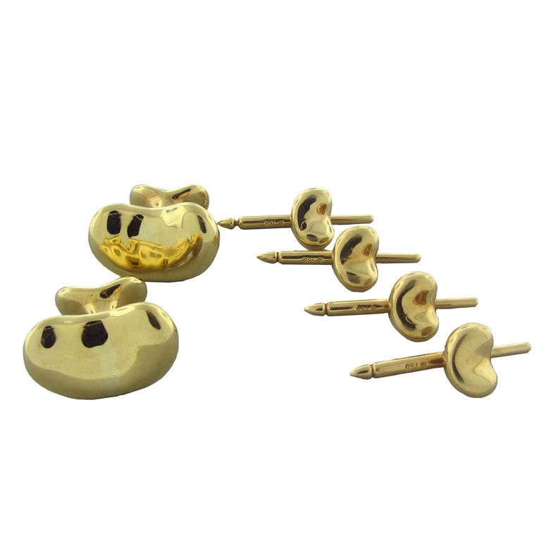 52b402509 TIFFANY and CO PERETTI Gold Cufflink Stud Set | CuffLinks ...
