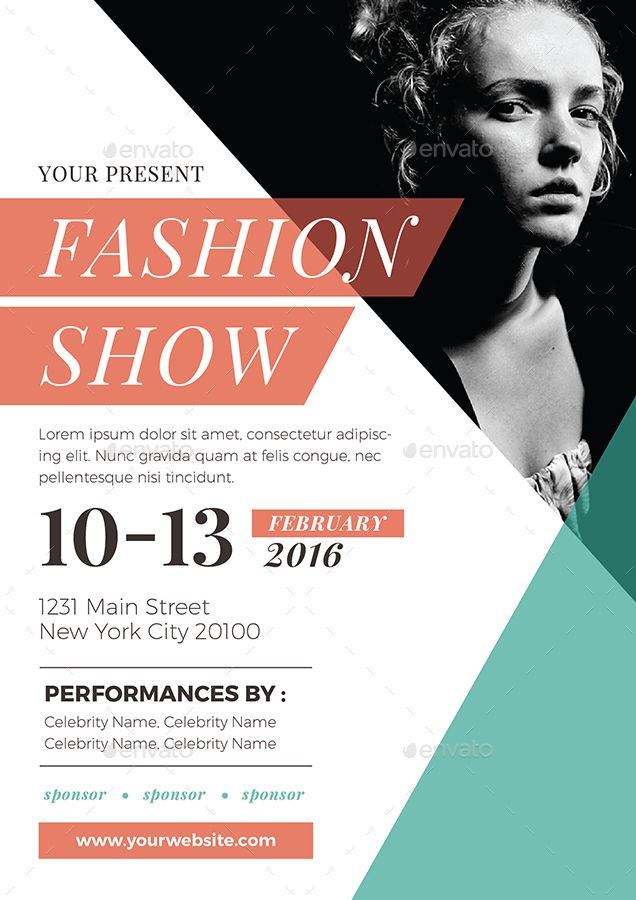 Fashion Show Flyer foto alternatif Flyer design, Fashion show