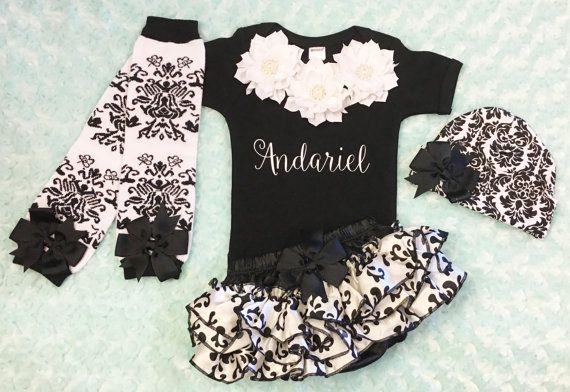 Newborn Girl Take Home Outfit Girls Photo by KeepsakeKonnections