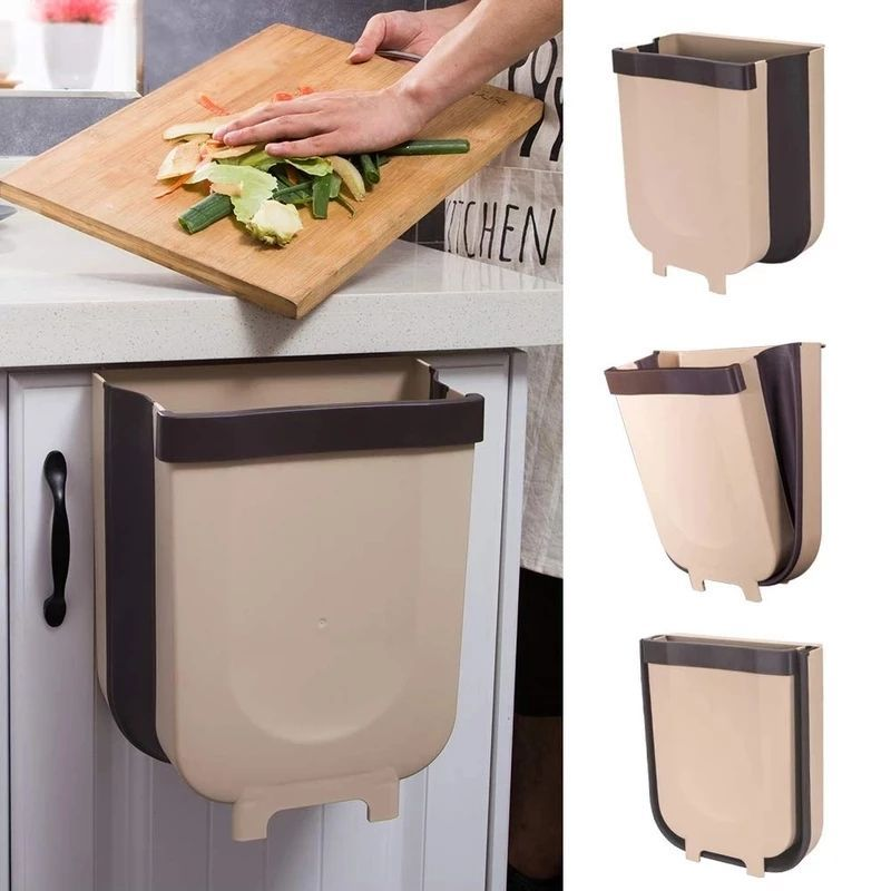 Trash Can Kitchen Wall Mounted Garbage Bin Foldable Waste Bins Cleaningcars New Kitchen Cabinet Doors Kitchen Cabinet Doors Kitchen Bin