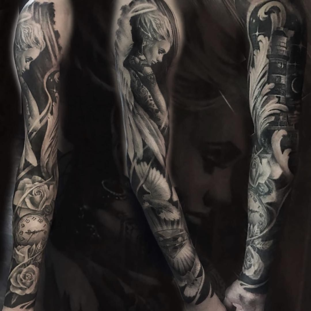 Recently Completed This Sleeve For Aiden Cheers Bro Inner