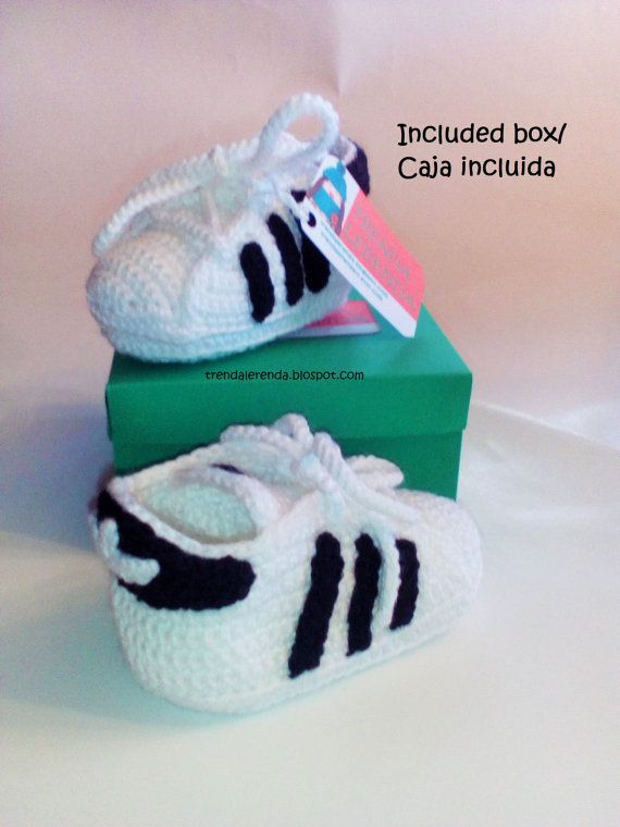 Adidas Superstar Pattern Crochet Baby In 3 Different Sizes In