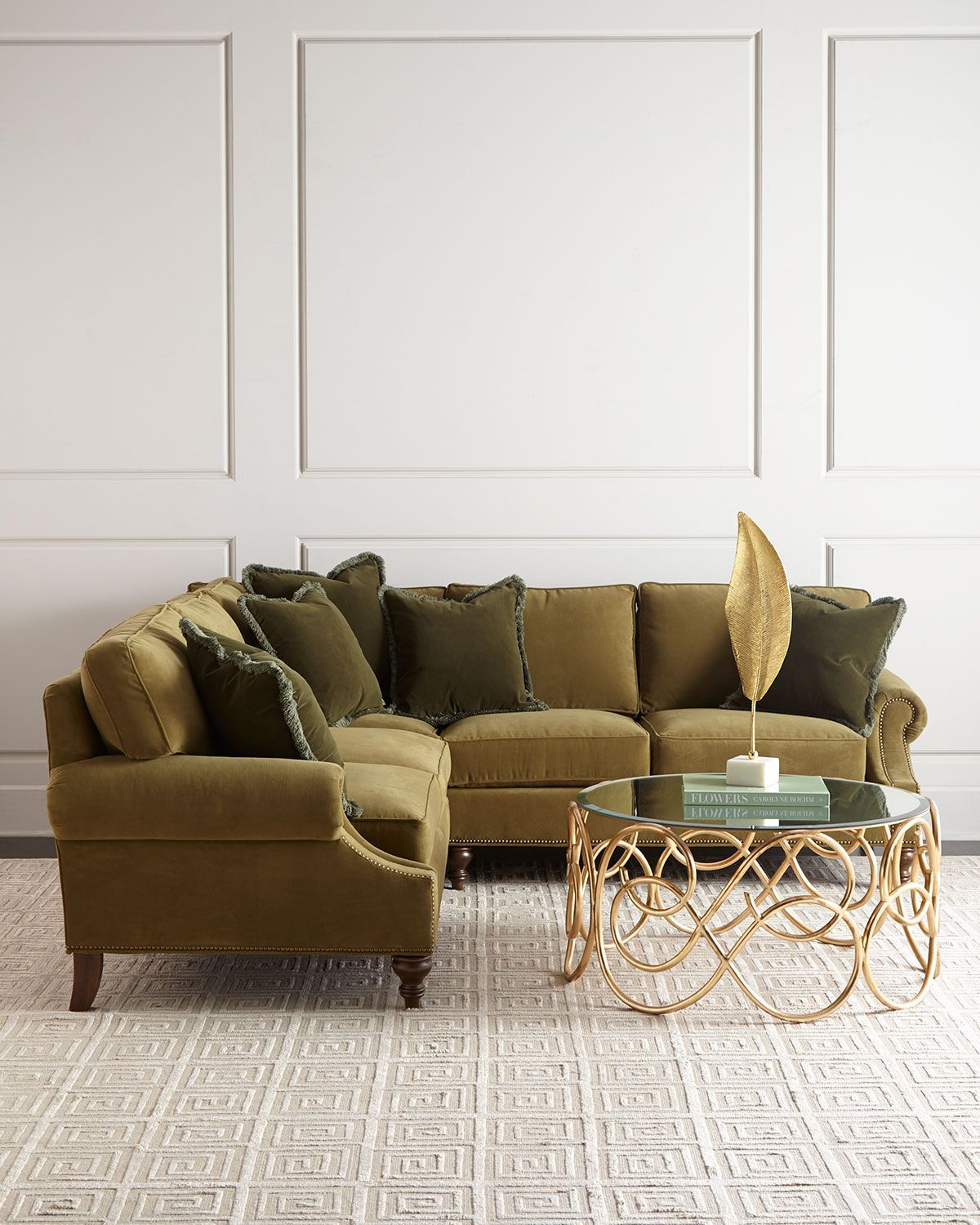 Alix Right Corner Sofa With Left Facing Loveseat Sectional