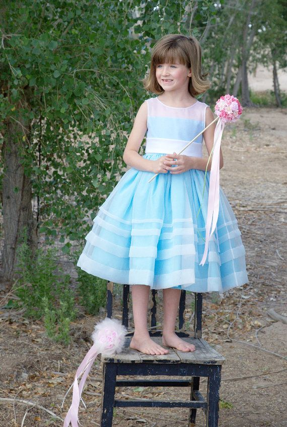 9fae8507394 Alice in Wonderland flower girl dress...sooo cute!! And she could throw  flower petals out of a large teacup  w