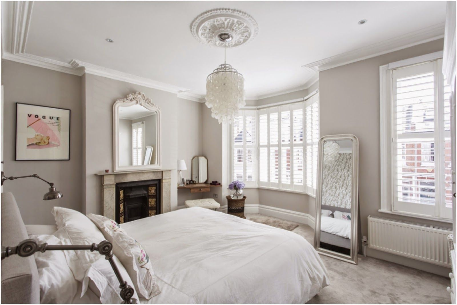 bedroom complete farrow ball cornforth white walls tapet cafe wallpaper bamboo luxe - White Bedrooms