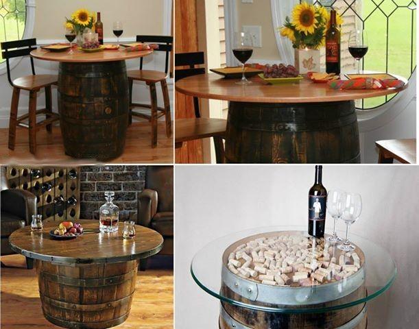 Como hacer una mesa con un barril de madera decoraciones for Barriles de madera bar