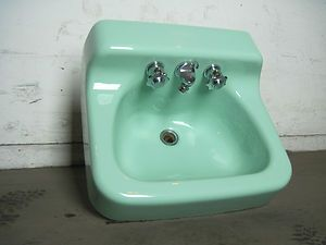 Old Green Cast Iron Sinks Vintage American Standard Ming Green