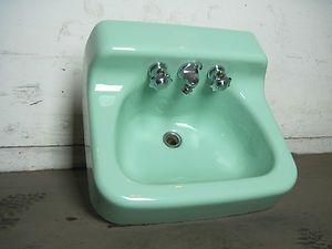 Cast Iron Bathroom Sinks antique vintage american standard ming green bathroom sink 1960's