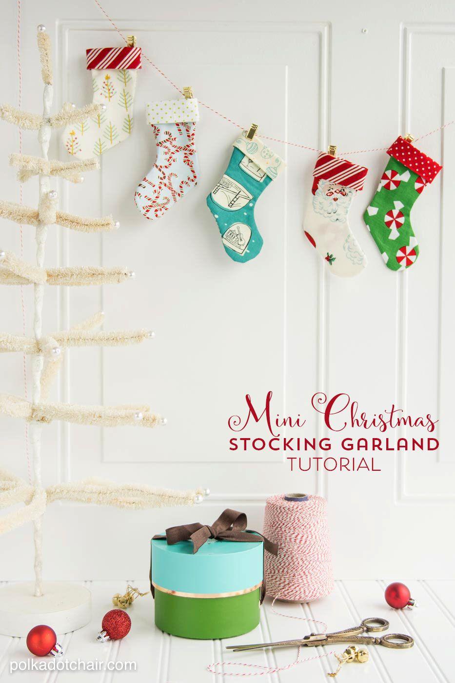 DIY Christmas Stocking Garland Sewing Pattern   Christmas sewing ...