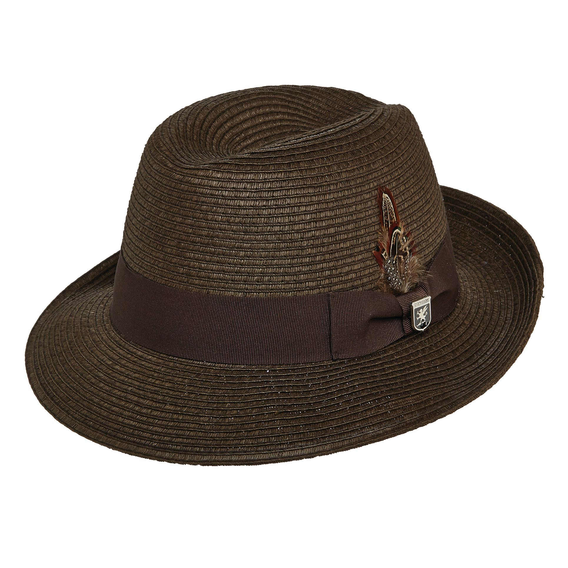 e738d7936178e Stacy Adams Summer Fedora - Chocolate
