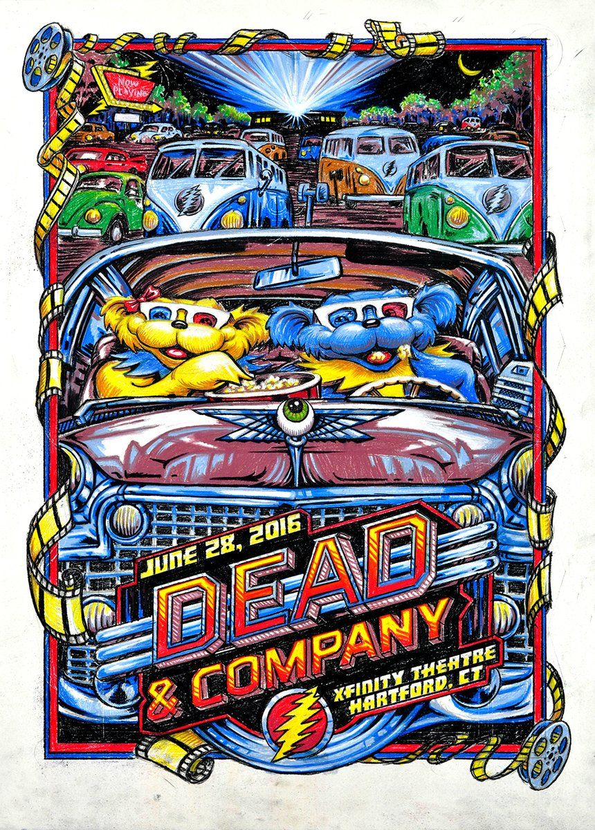 dead company hartford ct deadandcompany got this very poster at the show numbered an signed. Black Bedroom Furniture Sets. Home Design Ideas