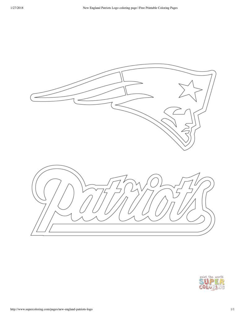 Patriots Coloring Sheets And Pages Football Coloring Pages New