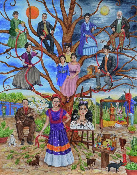 Frida Kahlo Family Tree by Natasha Sazonova