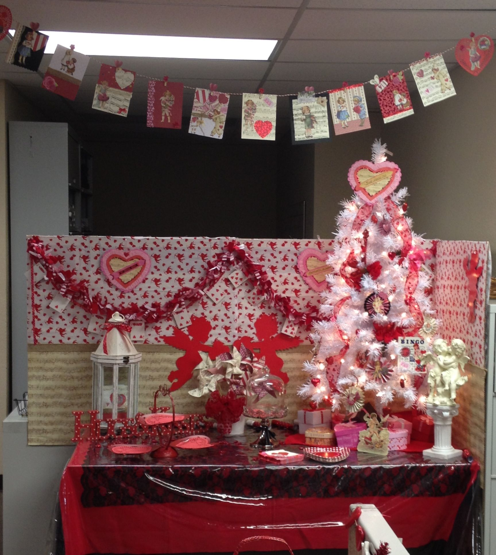 valentines ideas for the office. My Office Potluck Valentines Decorations. I Made Most Of Them. Thank You Pinterest For Ideas The A