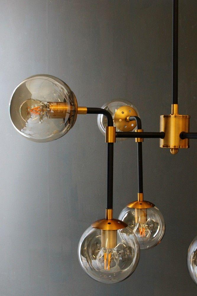Eight Glass Globe Ceiling Light - Ceiling Pendant Lights - Lighting