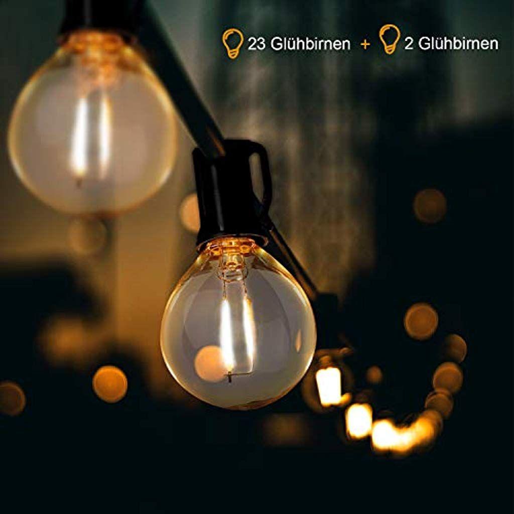 Ousfot Led Lichterkette Aussen G40 762m Lichterkette Gluhbirnen 25 Birnen 23 Steckdosen Wasserdicht F Led Lichterkette Aussen Lichterkette Aussen Led Lichterkette
