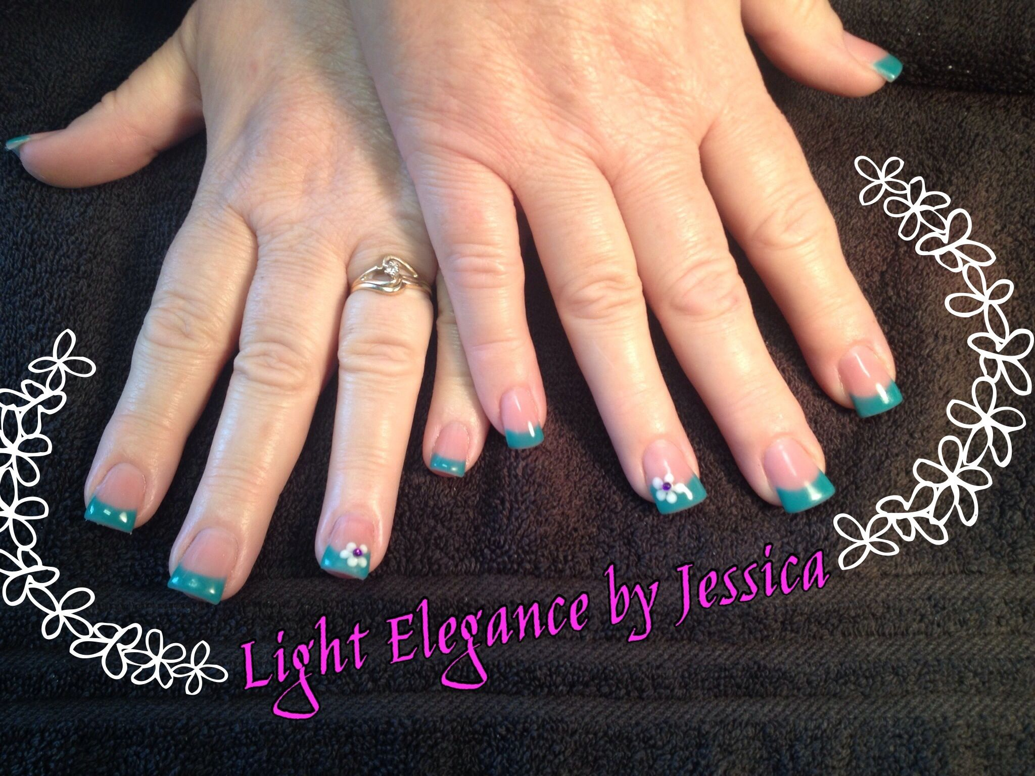 Light Elegance by Jessica in Salem Oregon. Nail art, flower, pedal ...