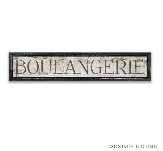 Boulangerie Wooden Sign Boulangerie Plaques French Signs Bakery Signs  Kitchen Signs Kitchen Decor Bakery Decor Business