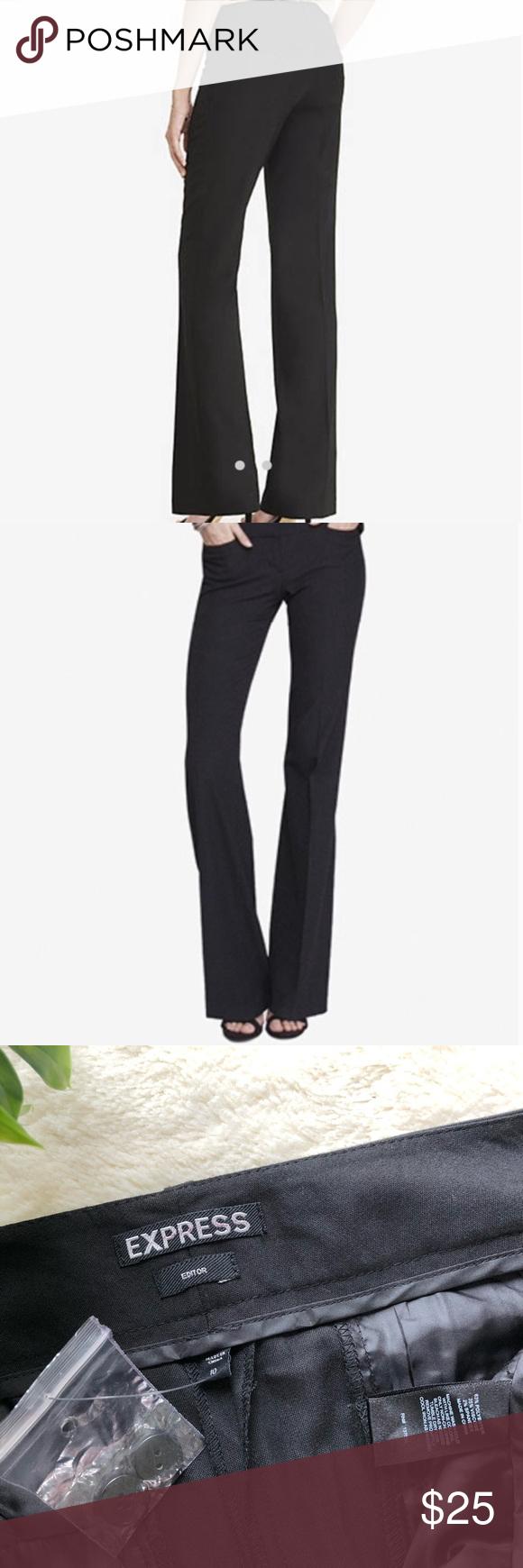 Express Editor Black Dress Pants Bootcut 10 Black Dress Pants Dress Pants Trouser Pants Women [ 1740 x 580 Pixel ]