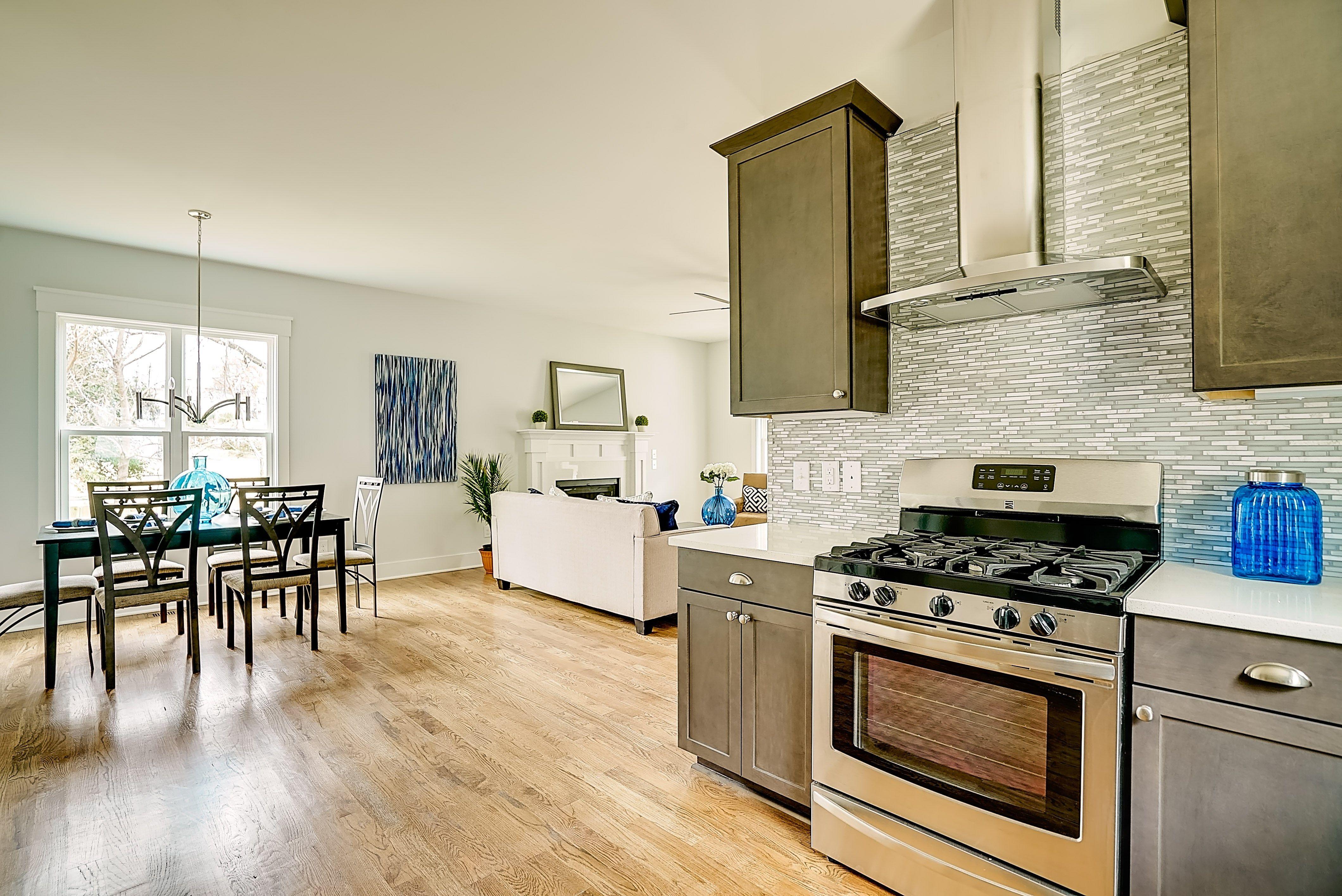 Open floor plan design by thayer homes open floorplan diningroom