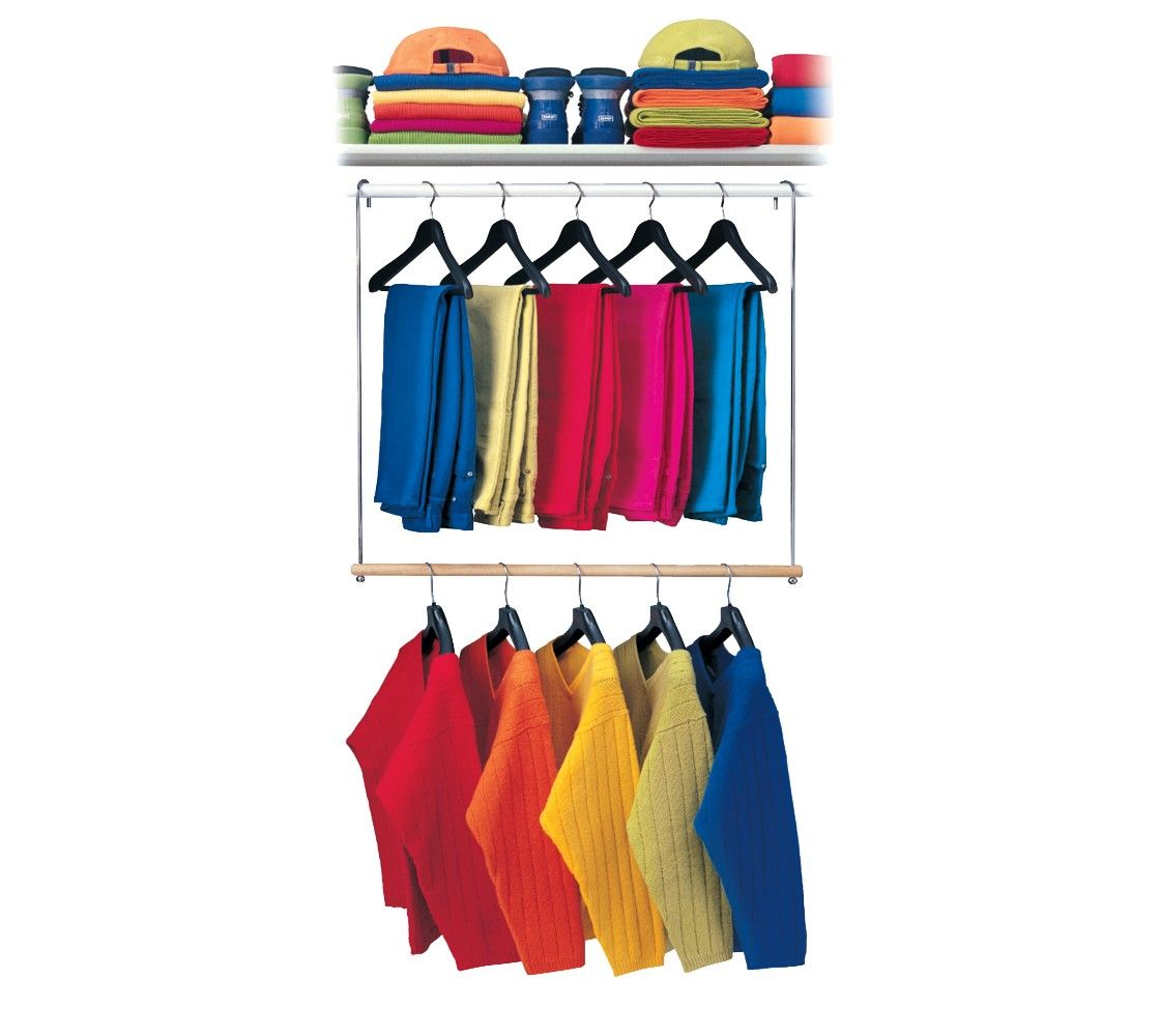Double Hang Closet Organizer   Chrome. This Will Come In Handy For My Tiny  Closet