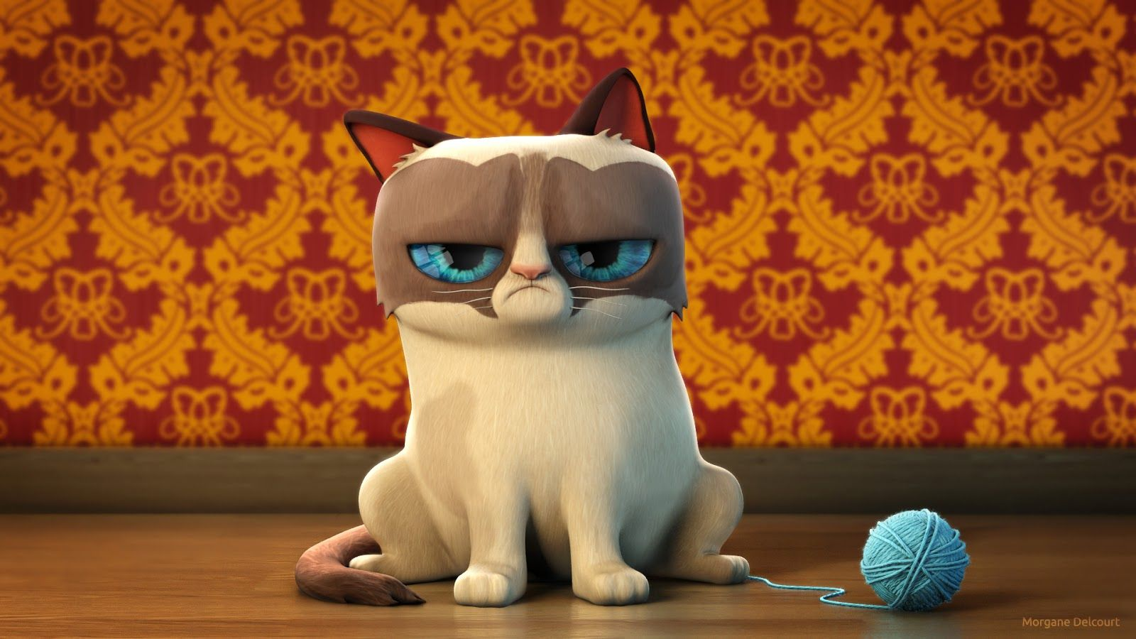 Grumpy cat 3d design Design from another dimension