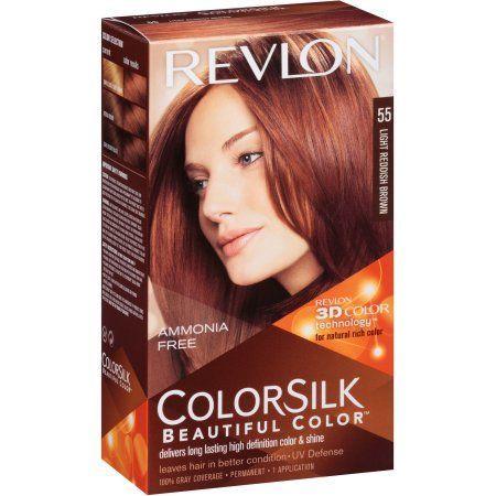 Revlon Colorsilk Beautiful Color Permanent Hair 55 Light Reddish Brown Red And
