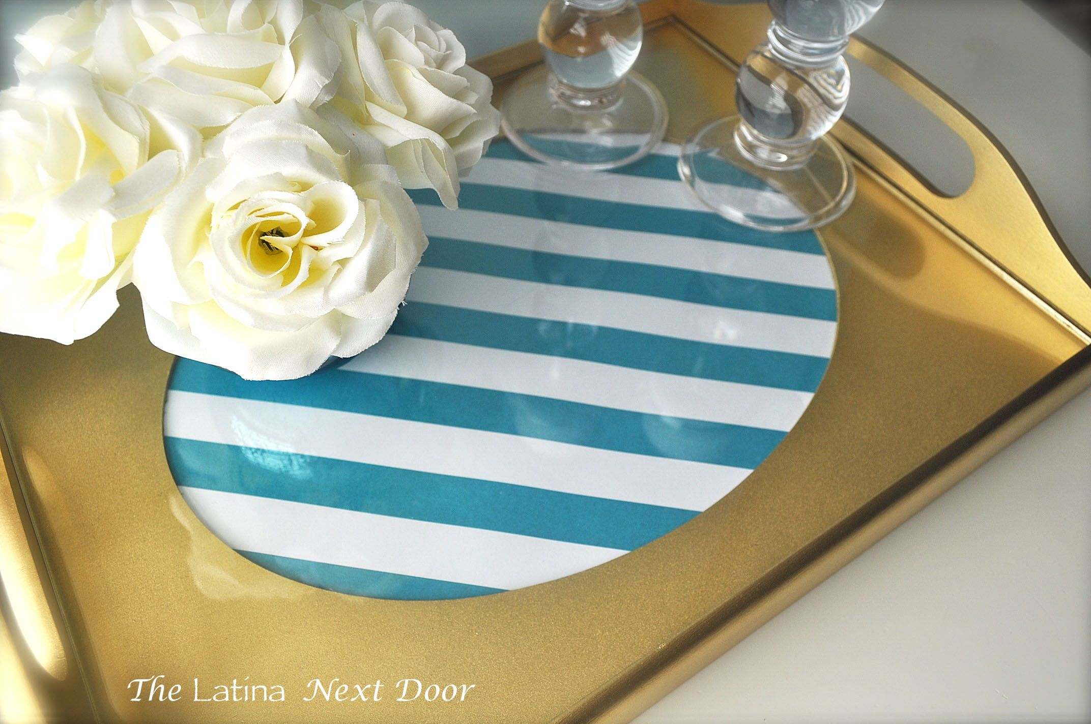 Diy gold tray trays spray painting and craft