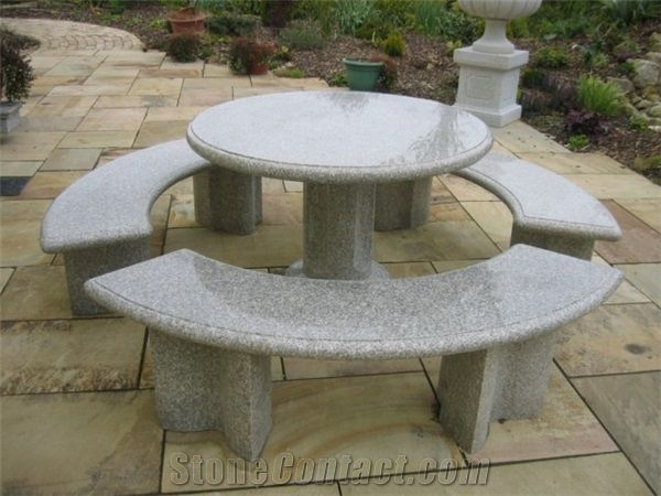 Granite Garden Table Sets Granite Furniture Outdoor G687 Granite