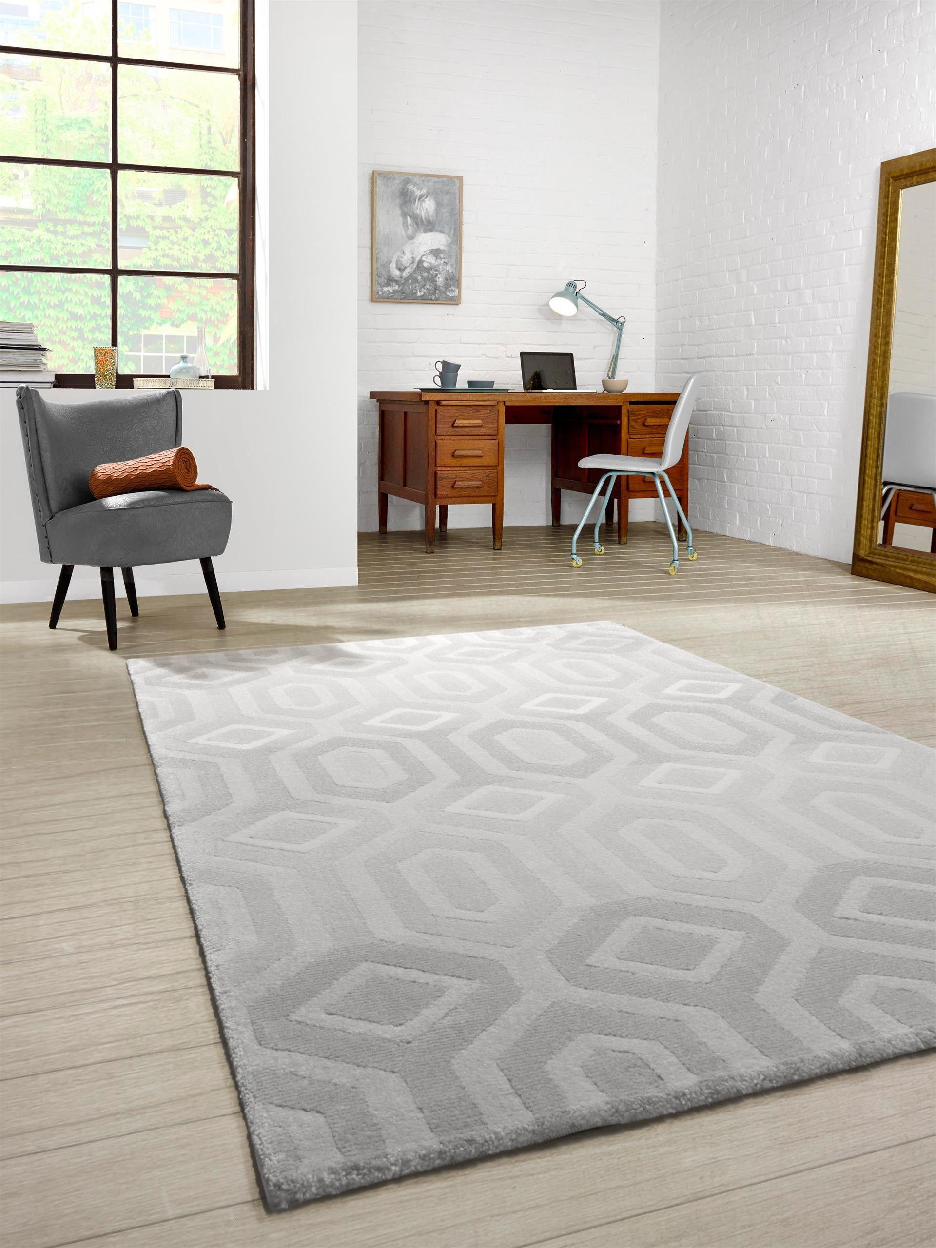 Skandinavisches Design In Dezenten Grautönen: Benuta Teppich Opus Illusion  #benuta #teppich #interior #rugs