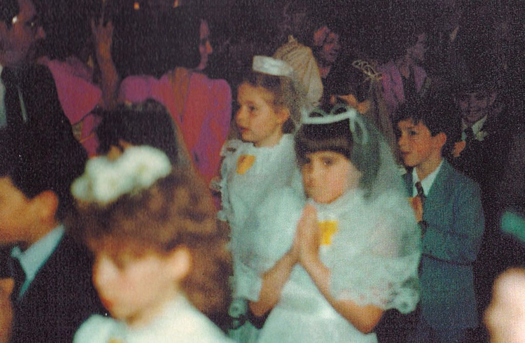 I ended up getting blurred in the picture. This is St. James Church in the time of Father Richter 1984.