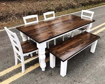 Round Dining Room Table Kitchen Table Set 60 Inch Round Etsy
