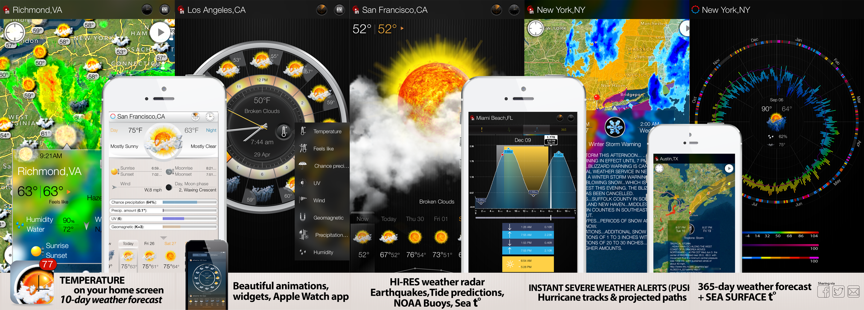 eWeather HD for iPhone and iPad specifically designed to