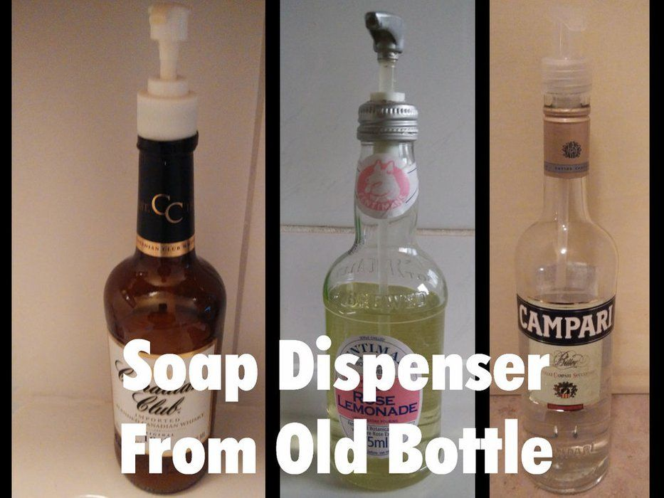Soap Dispenser From Old Bottle