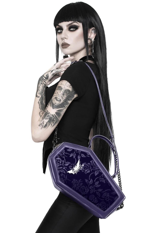 Vampire's Kiss Coffin Handbag [PLUM]   Killstar